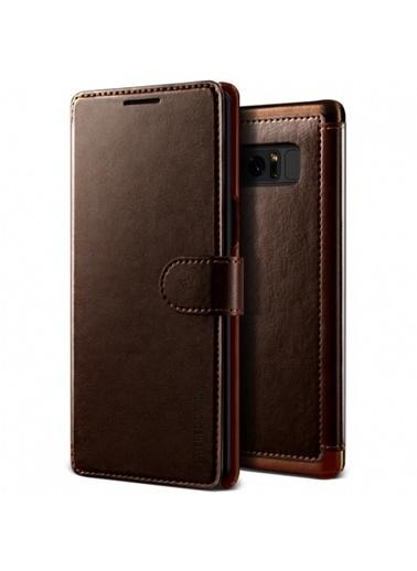 Galaxy Note 8 Dandy Layered Kapaklı Kılıf Brown-Verus
